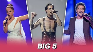 Eurovision BIG 5 Songs (2011-2021)   My Top 3 By Year