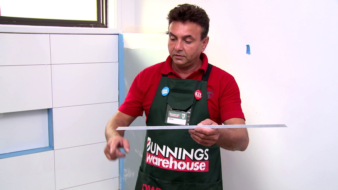 how to install tile trim d i y at bunnings