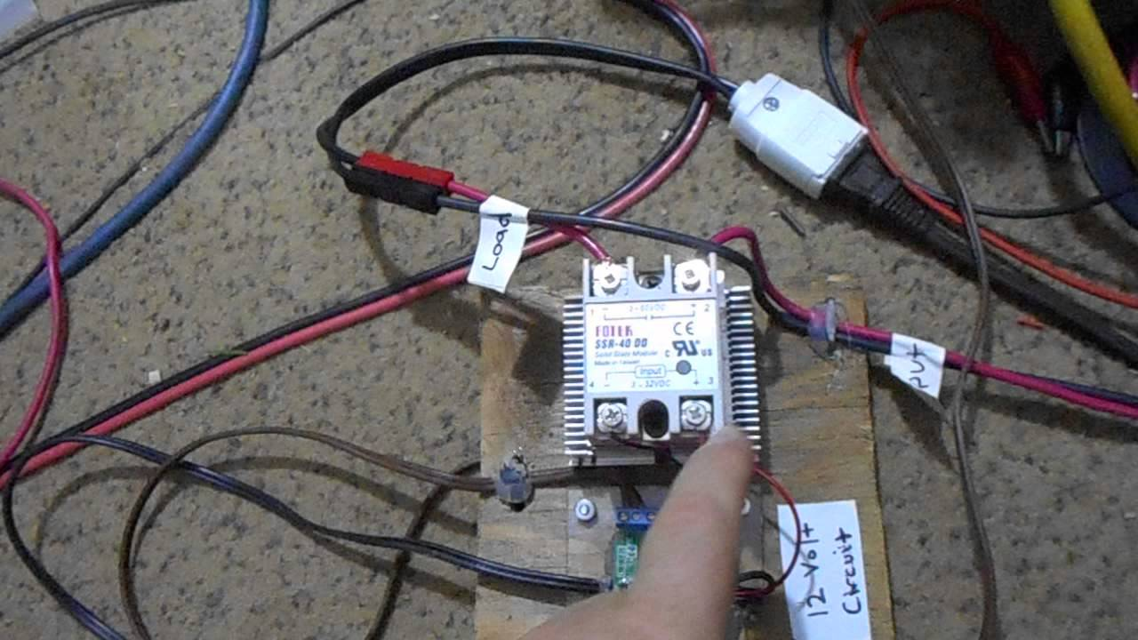 Wiring A Dc Solid State Relay Schematics Diagrams Small Diagram Problem Explained Youtube Rh Com