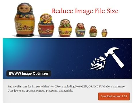 Wordpress EWWW Image Optimizer Very Easy Reduce File Sizes Automatically