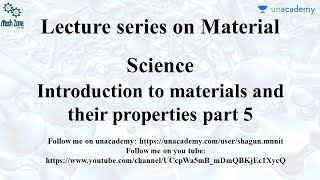 Material Science Lecture 7: For GATE, ESE, SSC JE, PSU, SAIL, BHEL, IOCL, NTPC.