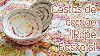 Veja como fazer cestas de cordão (Rope Baskets)