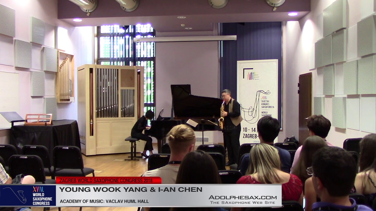 SOnata Nº2 by Johannes Brahms    Young Wook Yang & I an Chen   XVIII World Sax Congress 2018 #adolph