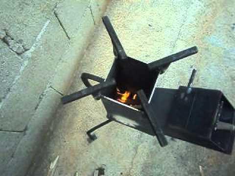 Cocina a le a o estufa cohete youtube for Planos para fabricar una cocina cohete