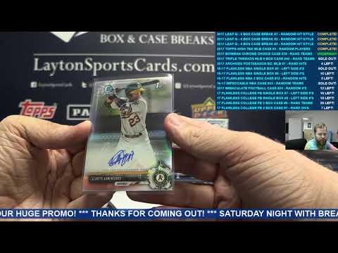 2017 Bowman Chrome Baseball HTA Choice 12 Box Case Break #38 – RANDOM TEAMS 25 SPOTS
