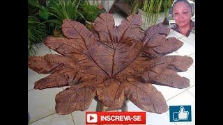 Folhas De Tecido E Cimento Simples De Fazer