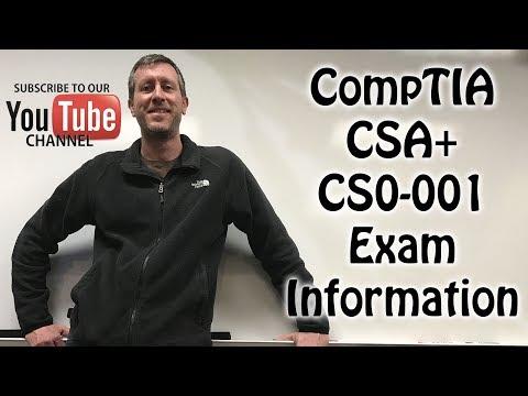 CompTIA CSA Cyber Security Analyst Plus Exam Info CS0-001