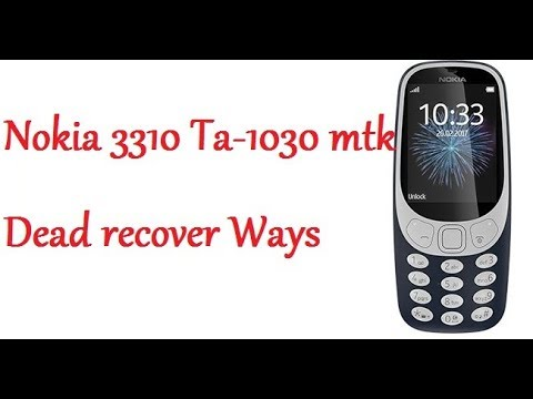 Nokia 3310 Ta 1030 MTk Flashing With Flash Tool File Danish Mobile Pk