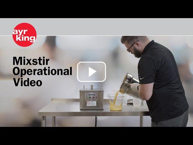 AyrKing Mixstir Operational Video