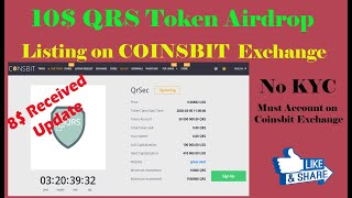 10$ QRS Token Airdrop || Soon Going to list on CoinsBit Exchange || No KYC || 8$ Received Update