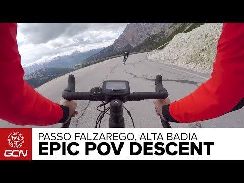 Epic POV Road BIke Descent –Passo Falzarego, Alta Badia, Italy