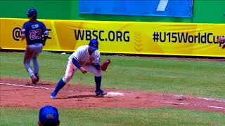 Highlights: USA v Chinese Taipei - U-15 Baseball World Cup 2018