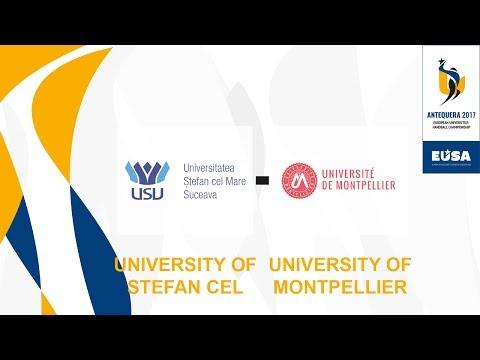 U. of Suceava vs U. of Montpellier,  M17, 1st/4th Semifinals Male - EUC Handball 2017