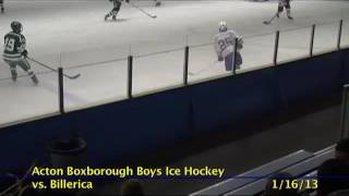 Acton Boxborough Varsity Boys Hockey vs Billerica 1/16/13