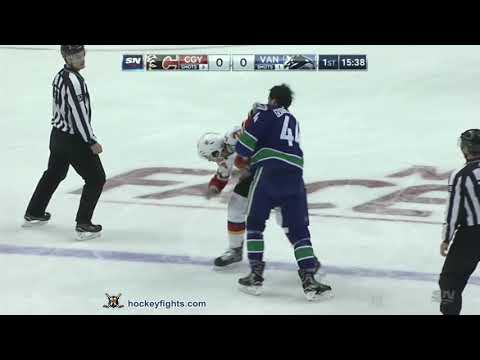 Travis Hamonic vs Erik Gudbranson Oct 3, 2018