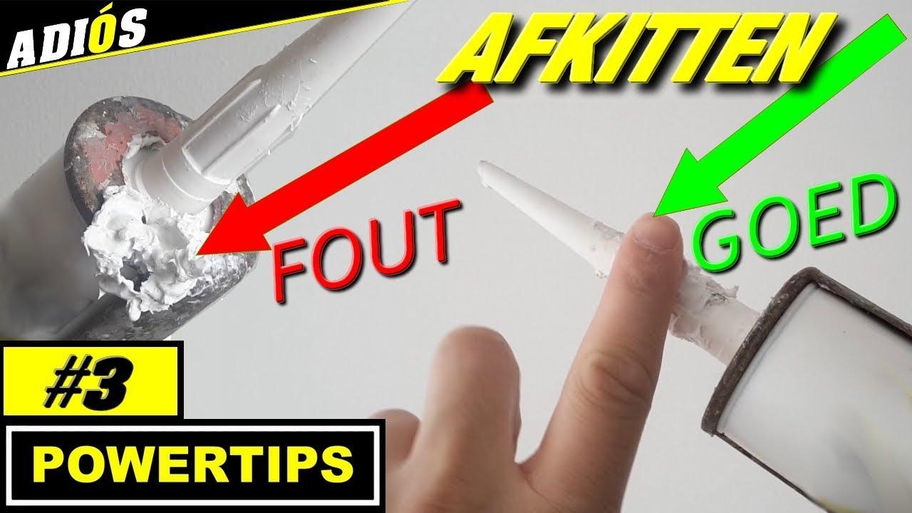 AFKITTEN TIPS / overtollige kit verwijderen ( powertips #3) - YouTube