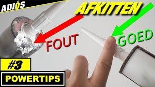 AFKITTEN TIPS / overtollige kit verwijderen ( powertips #3)