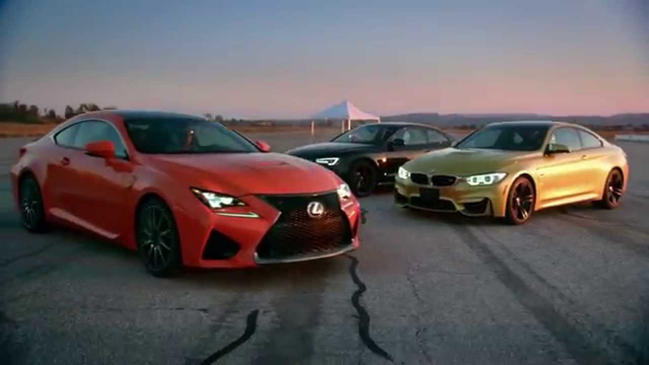 Competitive Review Lexus Rc F Vs Bmw M4 And Audi Rs 5