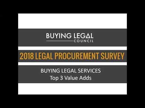 BLC | 2018 Legal Procurement Survey | Procurement's Preferred Value-Adds | Video 4