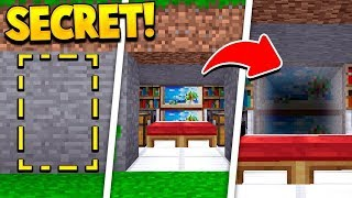 Even MORE New SECRET Minecraft Rooms! (100% HIDDEN!)