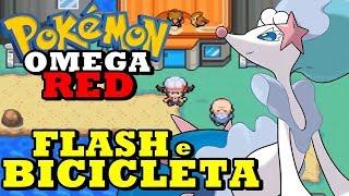 Pokémon Omega Red (Detonado Hack Rom - Parte 9) - Bike, Flash e Trocas Infinitas!