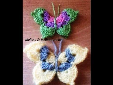 papillon au crochet facile crochet mariposa crochet. Black Bedroom Furniture Sets. Home Design Ideas