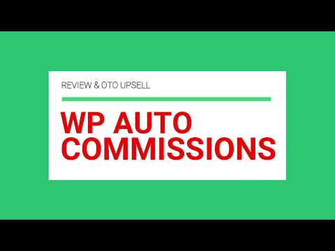 WP Auto Commissions Plugin Review + WP Auto Commissions Training Tutorial from Ankur Shukla. http://bit.ly/2Zu27Ph