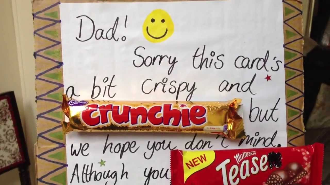 Father's Day 'chocolate' Card - YouTube