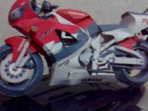 Papercraft yamaha yzf r1 bike paper model