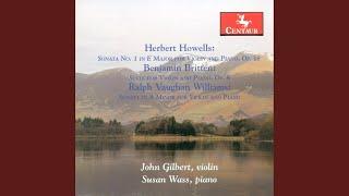 Violin Sonata in A Minor: III. Tema Con variazioni: Andante - Tempo del preludio ma tranquillo...