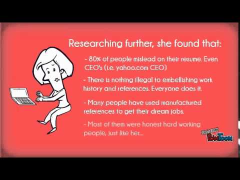 Fake Resumes and work references. - YouTube