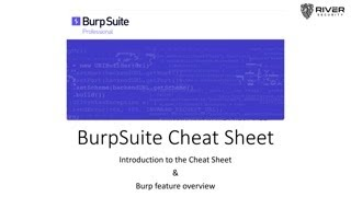 Burp Suite Cheat Sheet and Tips & Tricks