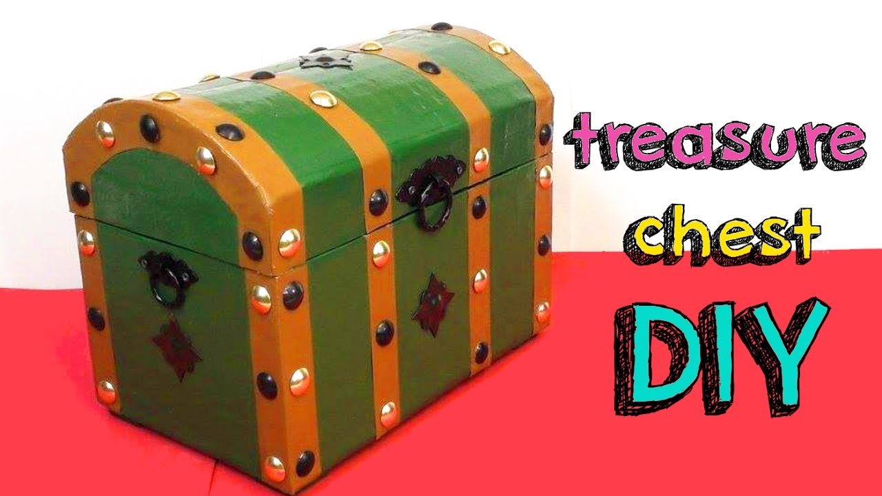 Easy Crafts Diy Treasure Chest For Room Decor