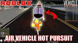 UTILIZAÇÃO de veículos aéreos em Hot Pursuit??? | Roblox veículo Simulator