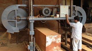 Woodworking Large Sawmill Machine Cutting Wood - Woodworking Sawmill Techniques Cutting Work