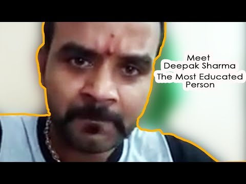 Most Educated Person Deepak Sharma | Why he is trending