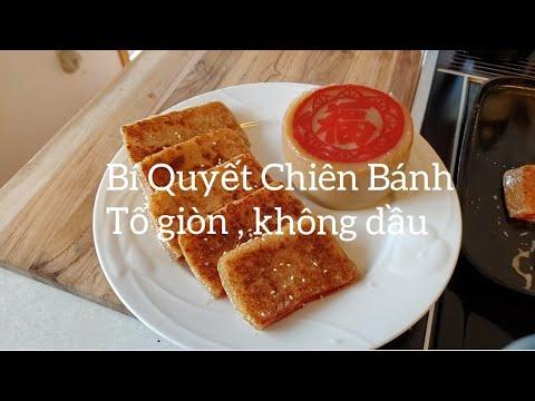 Bí Quyết Chiên Bánh Tổ Giòn , không Dầu ( How to cook Ginger Sweet Rice Cake )