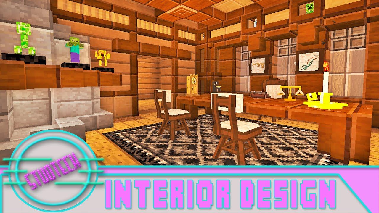 minecraft attic ideas - Modded Minecraft Interior Furniture Designs For An fice
