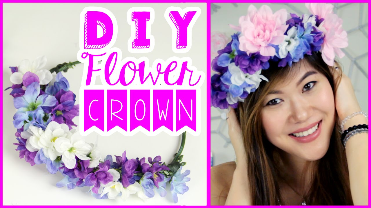 Diy flower crown tutorial using dollar tree crafts supplies to wear diy flower crown tutorial using dollar tree crafts supplies to wear to a music festival youtube izmirmasajfo