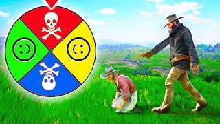 MYSTERY WHEEL DECIDES HOW I PLAY Red Dead Redemption 2!
