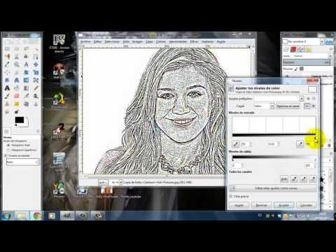 Tutorial Efecto dibujo a lpiz GIMP  YouTube