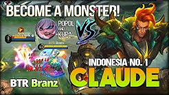 21 Kill Become a Monster. 91.9% Win Rate of Claude! Branz Indonesia No. 1 Claude - Mobile Legends