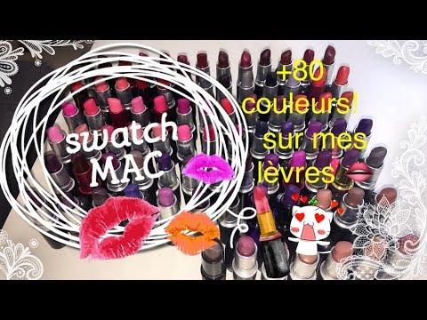 *MAC* plus de 80 swatch sur mes lèvres -LIP SWATCHES-