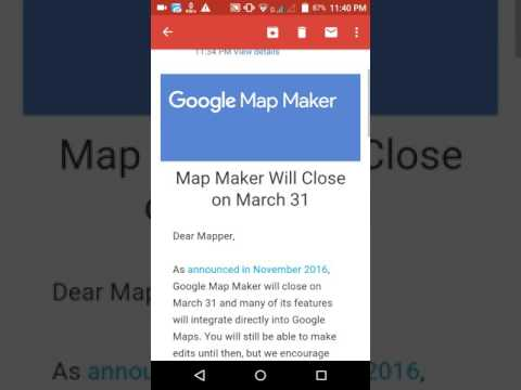 Google map maker will close on 31march 2017