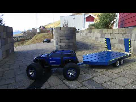 Homemade painted wood RC Trailer