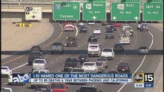 I-10 on most dangerous roads list