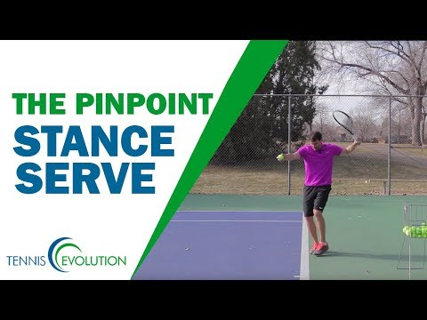 The Pinpoint Serve Stance Breakdown | TENNIS SERVE