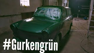 Trabant 601 Kombi: 40€ Lackierung in Gurkengrün Metallic