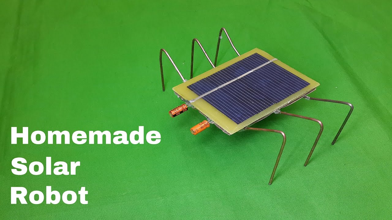 How To Make A Homemade Solar Powered Robot Toy : Very Easy