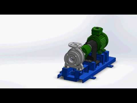 Bomba centrifuga, Funcionamiento Solidworks thumbnail